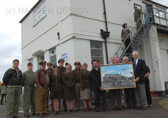 Steve with Veterans and  Re enactors at the tower museum