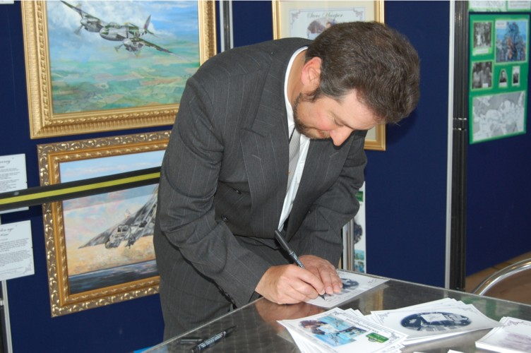 Signing event at RAF Museum Cosford with Artist Steve Harper