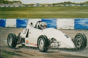 a formula ford painting by Steve Harper