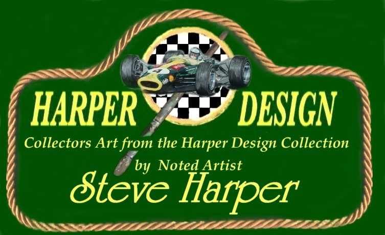 The logo of Harper Design motor sport  art of excellence by Steve Harper