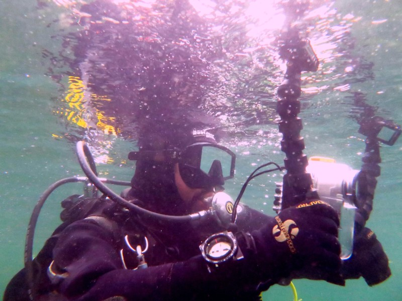 Steve Harper Diving instructor with Camera