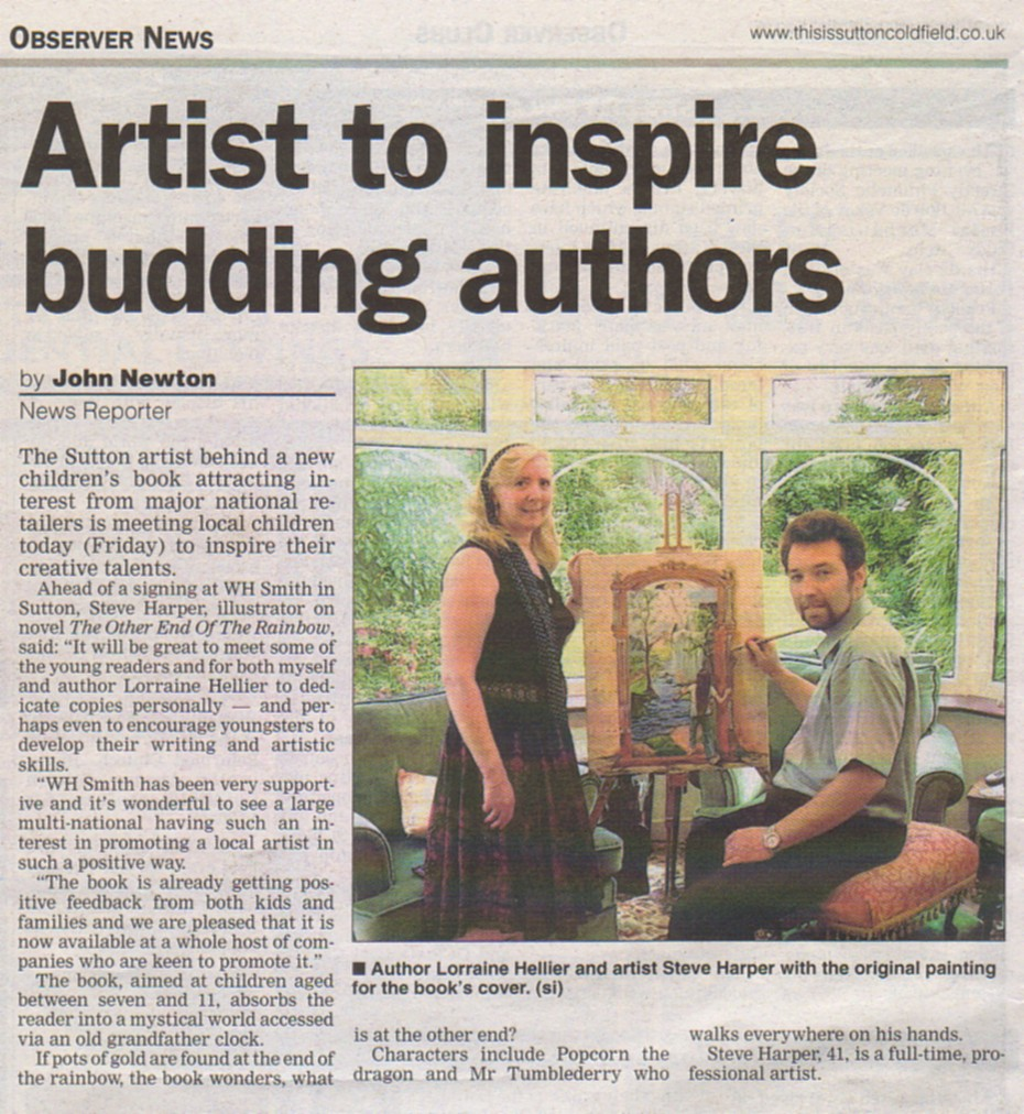 This Article appeared in a Local Sutton Coldfield News paper to herald the launch of a book featuring art work by Steve Harper